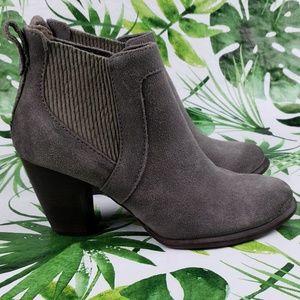 Ugg COBIE II gray suede ankle booties with heel 9